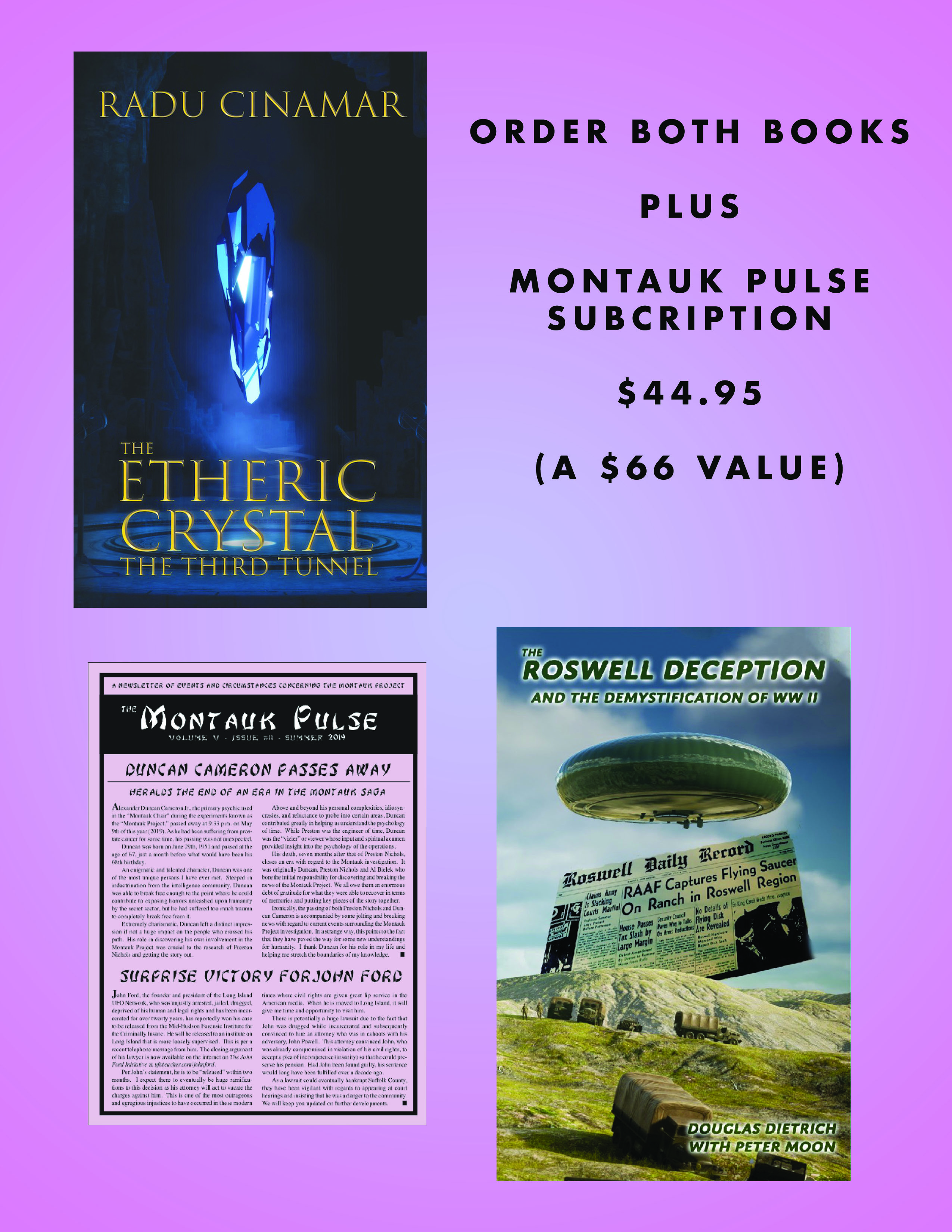 Special Offer 3 for Roswell/Etheric Crystal